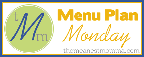 Menu Plan Monday 9/29